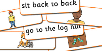 Phase 2 Captions And Pictures Matching Cards (Long) - Phase 2, Phase two, Word cards, matching, matching activity, captions, pictures, DfES Letters and Sounds, Letters and sounds