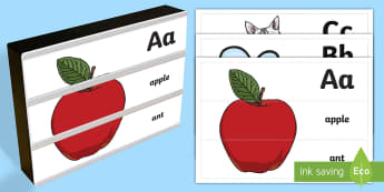 Letter Recognition Light Box Inserts - letter, recognise, recognition, alphabet, phase 1, phase 2, phonics, sounds, letters, a to z,