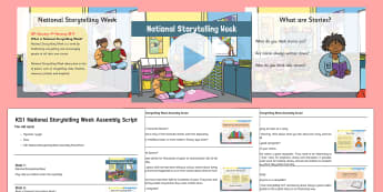 KS1 National Storytelling Week Assembly Pack - National Storytelling Week Assembly Pack, KS1, stories, telling stories, favourite stories, listenin