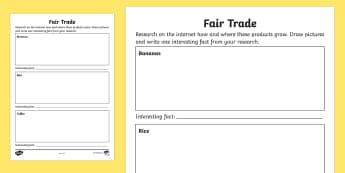 Fair Trade Activity Sheet - NI, Fairtrade Fortnight, 27/02/2017, farming, fair trade, fairtrade.