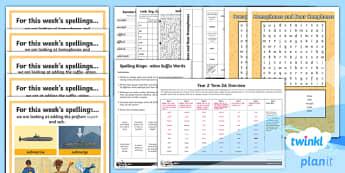 PlanIt Y4 Term 2A Bumper Spelling Pack - Spellings Year 4, spelling, words, lists, weekly, pack, assessment, pack, SPaG, GPS, Y4,,Australia