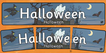 Halloween Display Banner Romanian Translation - romanian, halloween, hallowe'en, display banner, display, banner