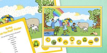 Poster d'affichage et cartes pour chercher dans l'image : Spring (Le printemps) - Anglais LV