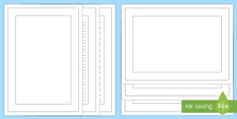 Plain Colouring Page Border Pack - Plain Colouring Page Border Pack - writing templates, writing frames, colour, literacy, writing, tem