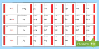 Phase 6 Suffix s and es Loop Cards - suffixes, suffix, suffix loop cards, phase 6, s and es, s and es loop cards, suffix s and es, suffix activities, ks2