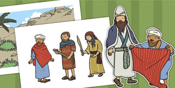 The Good Samaritan Story Cut Outs - the good samaritan, samaritan, help, helping, cut outs, cutting, cut, jewish, thieves, bible story, Jesus, priest, Levite, kind, good samartian