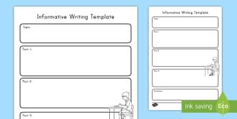 Informative Writing Template - Common Core, Graphic Organizer,