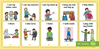 Golden Rules Display Posters - SEN, special educational needs, golden rules, behaviour, good, positive, display, poster, eyfs, nurs