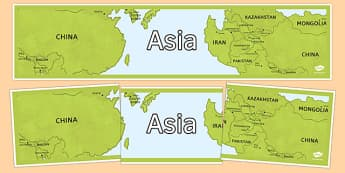 Asia Display Banner - asia, display banner, display, banner, continent, geography