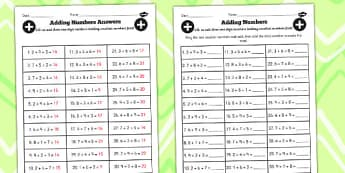 Adding 3 1 Digit Numbers Lesson 3 First Worksheet, Small, Maths