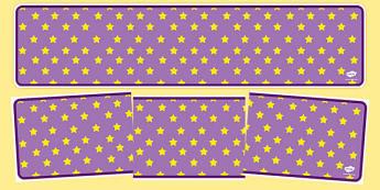 Lilac with Yellow Stars Editable Display Banner - lilac, yellow, display, banner, display banner, display header, themed banner, editable banner, editable
