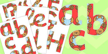 Teddy Bear Display Letters and Numbers Pack - teddy bear, display