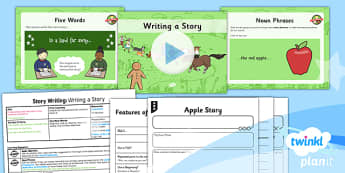 PlanIt Y2 The Gingerbread Man Lesson Pack Story Writing (2) - traditional stories, traditional tales, composition, transcription, description