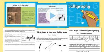 KS2 Handwriting Day Art and Handwriting Lesson Pack - KS2 Handwriting day 23rd Jan 2017, calligraphy, art, artistic writing, calligraphy and art, art less