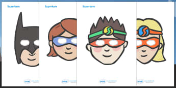 Superhero Role Play Masks - role play mask, role play, superhero, hero, batman, superman, spiderman