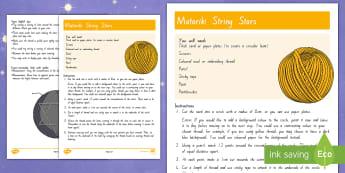 Matariki String Stars Craft Instructions - New Zealand Matariki, Matariki, New Year, Maori New Year, Maori, Celebration, Festival, string stars