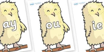 Phase 5 Phonemes on Owl Babies - Phonemes, phoneme, Phase 5, Phase five, Foundation, Literacy, Letters and Sounds, DfES, display