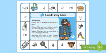 igh Sound Family Game - igh sound, igh, sound, sound family, game, activity