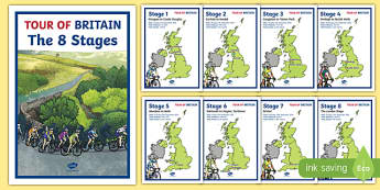 Tour of Britain Stages Map Display Posters