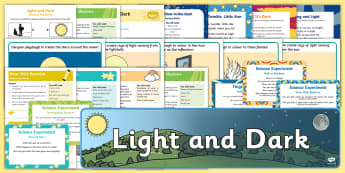 Childminder Light and Dark EYFS Resource Pack - Light and Dark, light source, childminding, child minder