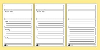 Instructions Writing Frame Template Differentiated - instructions, writing frame, template, differentiated