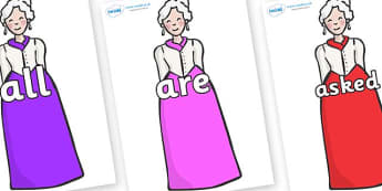 Tricky Words on Dames - Tricky words, DfES Letters and Sounds, Letters and sounds, display, words