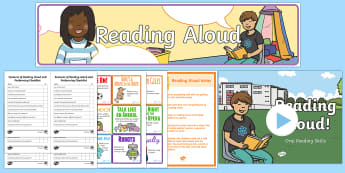 Reading Aloud Resource Pack - reading, aloud, reading out loud, books, reading strategies, reading, ks1, eyfs,