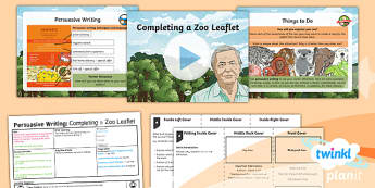 PlanIt Y6 Living Things and Their Habitats: David Attenborough Lesson Pack Persuasive Writing (2) - Living Things and Their Habitats: David Attenborough, persuasive, persuasion, writing, booklets, Yea