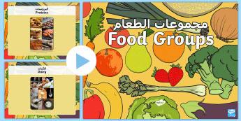 Food Groups Photo PowerPoint Arabic/English - Food Groups Photo Powerpoint - food groups, food, photo powerpoint, powerpoint, food photos, food po