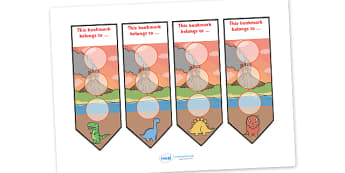 Dinosaur Sticker Reward Bookmarks (30mm) - Dinosaur Reward Bookmarks (30mm), dinosaur, reward bookmarks, bookmarks, reward, 30mm, 30 mm, stickers, twinkl stickers, award, certificate, well done, behaviour management, behaviour,