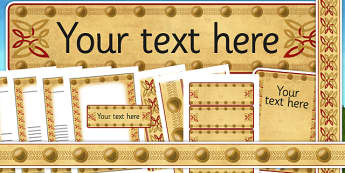 Anglo Saxon Themed Editable Display Pack - saxons, history