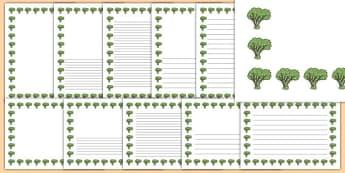 Elder Tree Themed Page Borders - elder tree, themed, page borders, page, borders, elder, tree