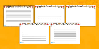 Chinese New Year Page Borders (Landscape) - page border, border, frame, writing frame, chinese new year, chinese, new year, chinese borders, chinese new year writing frames, writing template, writing aid, writing, A4 page, page edge, writing activiti