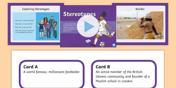 Stereotypes Lesson Pack-Scottish - CfE Health and Wellbeing Resources, stereotype, Mental, emotional, social and physical wellbeing, 2n