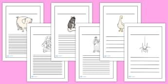 Charlotte's Web Writing Frames - writing template, writing aid