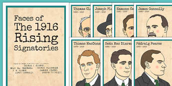 1916 Rising Signatories Posters - Easter 1916 Rising, irish history, proclamation of ireland, signatories, display posters