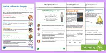 SATs Survival Year 6: Reading Revision Activity Mat Pack 6 - SATs Survival Materials Year 6, SATs, assessment, 2017, English, SPaG, GPS, grammar, punctuation, sp
