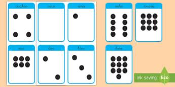 Tarjetas educativas: Los números - 0-10 - tarjetas educativas, los números, números, número, 0-10, cero a diez, desde cero, hasta diez, tar
