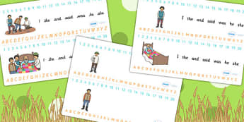 The Farmer and His Sons Combined Number and Alphabet Strips