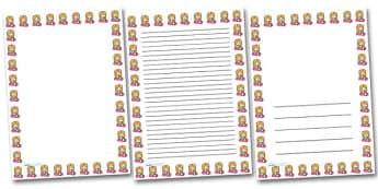 Girl Smelling Flowers Portrait Page Borders- Portrait Page Borders - Page border, border, writing template, writing aid, writing frame, a4 border, template, templates, landscape