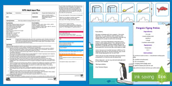 EYFS Penguin Flight Doubling Recipe Adult Input Plan and Resource Pack - Early Years planning, maths, Early Learning Goals, Number, doubles, problem solving, penguin, polar