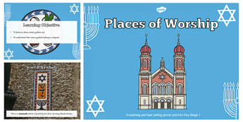 Jewish Symbols Teaching and Task Setting PowerPoint - jewish, jew