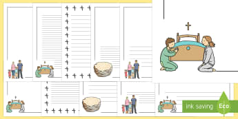 Ash Wednesday Themed Page Border Pack - Requests KS1, ash wednesday, easter, lent, christianity