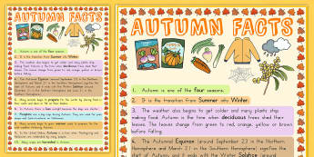 Autumn Information Poster - seasons, weather, display, poster