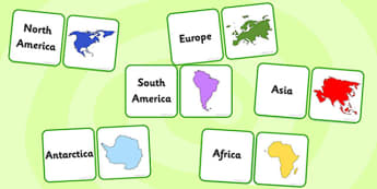What a Wonderful World Countries and Continents Matching Cards