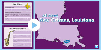 New Orleans PowerPoint - Mardi Gras, Fat Tuesday, Shrove Tuesday, Carnival