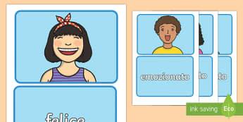 Abbina le Carte sulle Emozioni - abbina, le, carte, emozioni, sentimento, italiano, italian