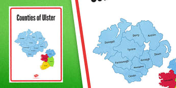 Counties of Ulster Display Poster - counties, ulster, display poster, display, poster