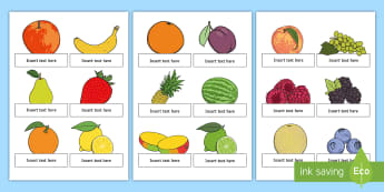Fruit Salad Editable Self Registration - olivers fruit salad, fruit salad, self registration