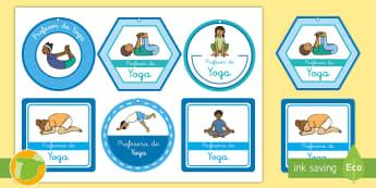 Collares: Profesor de yoga - yoga, consciencia corporal, tareas, encargos, collar,Spanish-translation